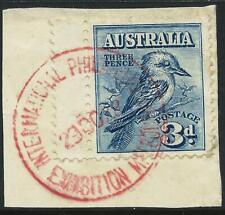 AUSTRALIA - 1928 KOOKABURRA 3d 'BLUE' Exhibition Cancel SG106 VFU  [A1958]