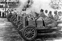 Indy car Dirt Track Auto Racing Photo Poster Vintage Automobile 1909
