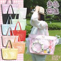 NEW Anime Lolita Cute Transparent Itabag Handbag Lace Women Casual Shoulder Bag