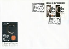 More details for sao tome & principe albert einstein stamps 2019 fdc solar eclipse science 2v m/s