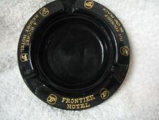 Vintage Las Vegas Frontier Hotel Hughes Resort Black Ashtray