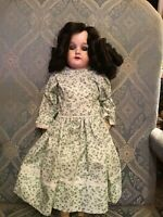 """ANTIQUE 370 ARMAND MARSEILLE SIGNED JOINTED KID BODY BISQUE HEAD DOLL APPROX 20"""""""
