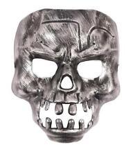 Lot de 6 Argent Métallique Crâne Masques Halloween Adultes Squelette