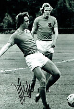 Johan CRUYFF Signed Autograph 12x8 Black & White Holland Photo AFTAL COA