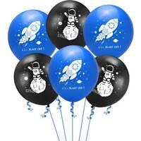 "12"" Astronaut Space Rocket Latex Balloons Children Birthday Party Balloon Decor"