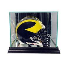 New Glass Mini Helmet Display Case NFL NCAA Black Molding FREE SHIPPING Made US
