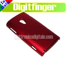 Sony Ericsson XPERIA X10 CUSTODIA Back Cover Case Guscio PLASTICA RIGIDA Rossa