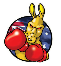 boxing kangaroo  VINYL DECAL  LAMINATED SIZE 100MM BY 80MM