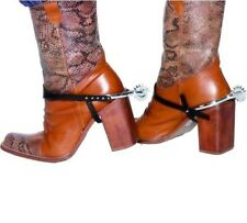 Cowboy Fancy Dress Boot Spurs Pk of 2 Western Wild West New by Smiffys