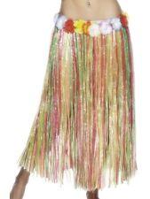 Hawaiian Fancy Dress Long Hula Grass Skirt Multi Elasticated Waist by Smiffys