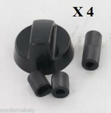 Universal AEG ARISTON four plaque de cuisson noir bouton contrôle & Adaptateur X