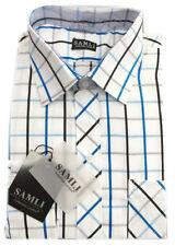 Chemises blanc avec des motifs Carreaux pour garçon de 2 à 16 ans