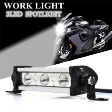 4 Inch Silver 9W 3 LED Work Light Bar Fog Spot Lamp Motorcycle SUV ATV OFFROAD