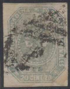 COLOMBIA 1859 Sc 6a Tvert 5 GRAY BLUE USED BY MUTE CANCEL €90
