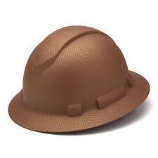 Pyramex Ridgeline Hard Hat Graphite Pattern Copper Full Brim Ratchet, HP54118