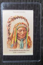 "1910 SITTING BULL Greatest War Chief 3.25x5"" Zira Cigarettes Silk VG+ 4.5"