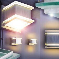 LED Lámpara de pared metal pantalla cristal satinada entrada para hogar salón