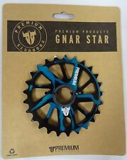 Premium Gnarstar Chain Wheel - Smoked Blue , 25  Tooth Alloy