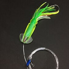 Saltwater Lure Mahi Tuna Dolphin Trolling Squid Skirt Offshore 80lb Leader Fish