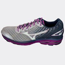 Mizuno Womens Wave Rider 19 410736.6600 Silver Purple Running Shoes Size 11