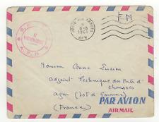 FM Algérie Poste aux Armées A.F.N. cachet 1961 sur lettre /L806