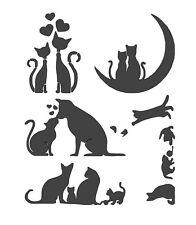 STENCILS CRAFTS TEMPLATES SCRAPBOOKING CATS STENCIL No. 2b - A4 MYLAR