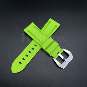 22 - 24 mm HQ Black Soft Rubber Diver Strap Watch Band for fits PANERAI PAM New