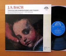SUA ST 50549 Bach Violin Harpsichord Sonatas Suk Ruzickova Supraphon Stereo NM