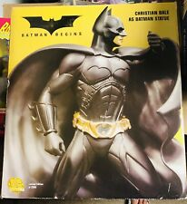 Batman Begins Christian Bale Full Size Statue 14� Inch Dc Direct, Limited 2500