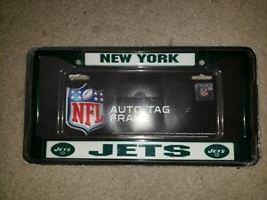 NFL authentic football Auto tag frame New York Jets license plate frame Namath