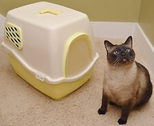NEW Marchioro Bill 1F Covered Cat Litter Box Pan Filter Door YELLOW kitty rabbit