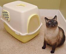 NEW Marchioro Bill 1F Covered Cat Litter Box Pan Filter Door YELLOW kitty rabbit