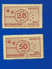 1971 STRIKE MAIL stamps Dayans Richmond  these have perforations 25p & 50p