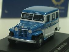 Bos WILLYS JEEP STATION WAGON, Blu-Bianco - 87010 - 1/87