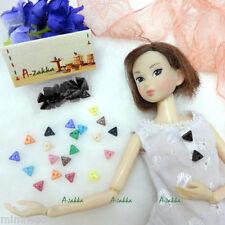 Bjd Doll Dress Making Diy Material Craft - 6.5mm Triangle Button Black 20pcs