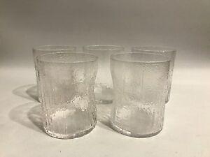 5 x Design Gläser H: 9,5cm 60er Jahre Finland? Italy? 60s Tumbler Whiskey Glass