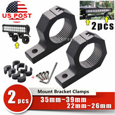 """2x 0.8""""1.5"""" 2"""" Roll Cage Tube Mounting Bracket Led Light Bar Clamp Offroad 4WD"""