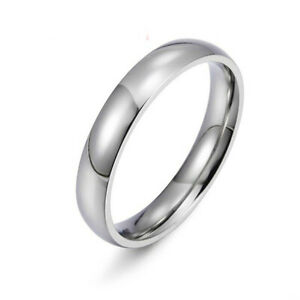 Classic Vintage Smooth Womens Mens Man Band Ring Silver Rings Jewelry Size 14