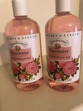 Crabtree & Evelyn Rosewater Bath & Shower Gel 16.9 oz ~ 500ml Bottle New X2