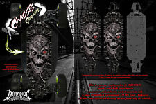 LOSI 5IVE-T CHASSIS WRAP DECAL KIT 'MACHINEHEAD' HOP UP SKID PLATE PROTECTION