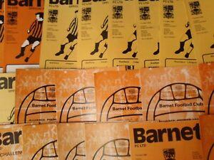 BARNET HOME PROGRAMMES SEASONS  1977/78 - 1979/80