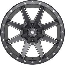 24X14 Xtreme Mudder XM 304 Wheels Black Rims Fits Lifted Chevy Ford Trucks 6 lug