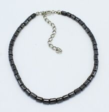 "9.5"" with Extender #A130 New Hematite Beaded Anklet"