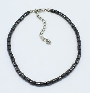 "New Hematite Beaded Anklet 9.5"" with Extender #A130"
