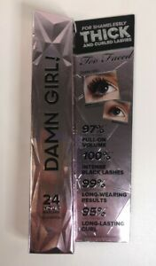 TOO FACED 'DAMN GIRL' 24 HOUR BLACK MASCARA 13ml BOXED AUTHENTIC