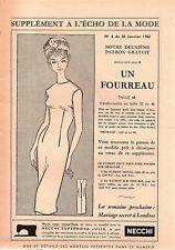 ▬► Patron Couture Écho de la Mode - 1962 N°4 - Taille 46 48 50 - Fourreau