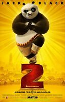 KUNG FU PANDA 2 MOVIE POSTER Original DS 27X40 Rolled One Sheet  2011 ANIMATION