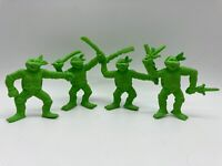 Vintage Teenage Mutant Ninja Hero Turtles Small Mini Rubber Figures TMNT 1990