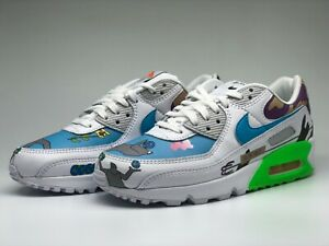 NIKE Flyleather Air Max 90 QS Multi-Color  CZ3992 900 Sneaker