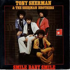 7inch TONY SHERMAN‎ smile baby smile HOLLAND 1976 EX+